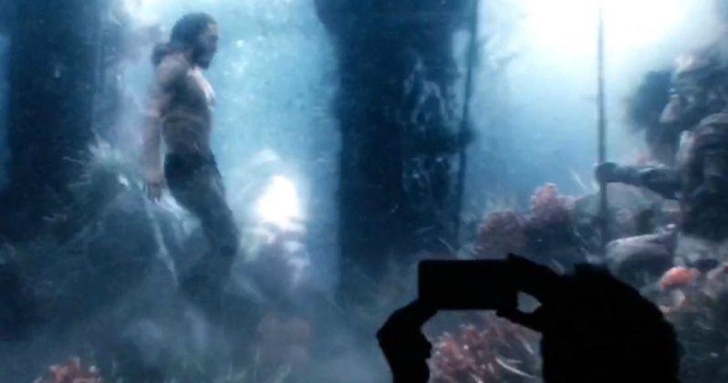 Justice League Video Shows Aquaman Swimming Underwater