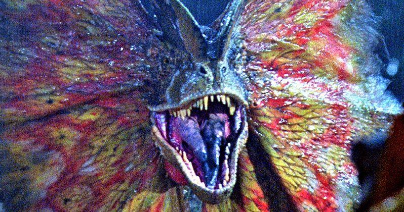 The Dilophosaurus Returns in New Jurassic World 2 Set Photos