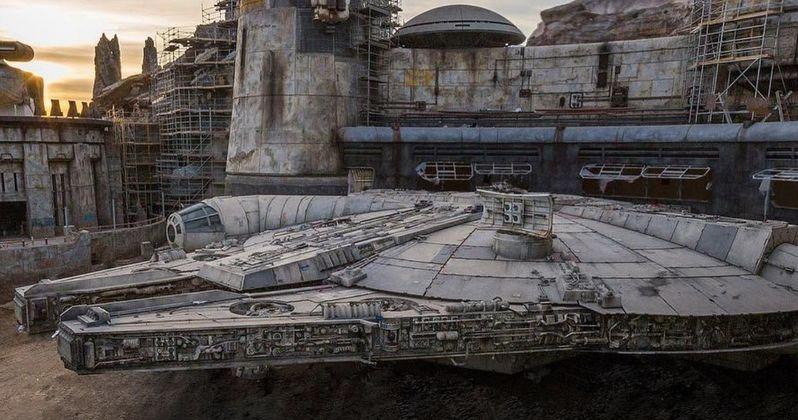Star Wars: Galaxy's Edge Photo Shows Off Disneyland's Finished Millennium Falcon