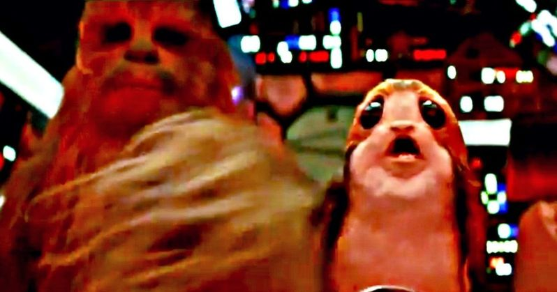 Chewbacca Punches a Porg in Latest Star Wars 8 Footage