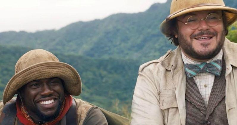 Jumanji 2 Bloopers and Gag Reel Leaves Jack Black Tongue Tied