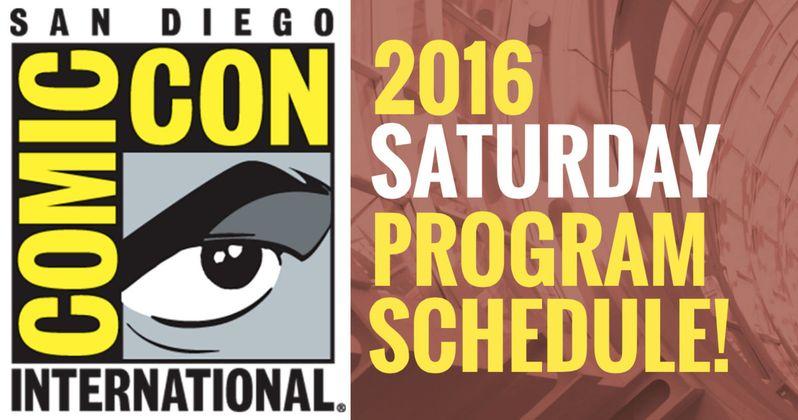 Comic-Con 2016 Saturday Schedule Released