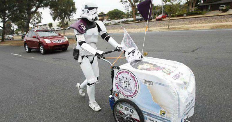 Nerd Alert: Stormtrooper Walks to Comic-Con & Conan Takes Fury Road