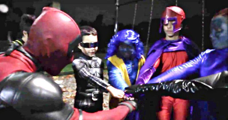 Watch Deadpool Spend Halloween with the X-Men Kids