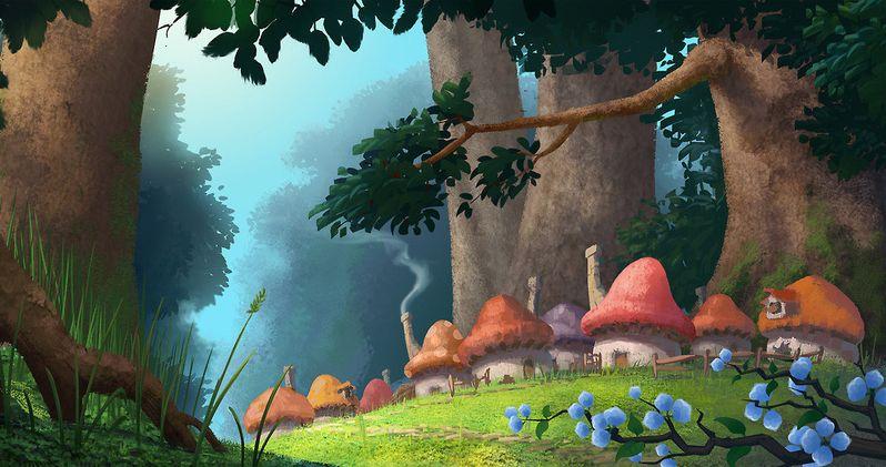 Visit Smurf Village in Smurfs Reboot Concept Art
