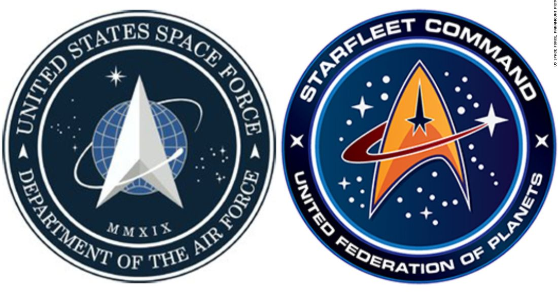 Trump's Space Force Logo Looks a Lot Like the Star Trek Insignia