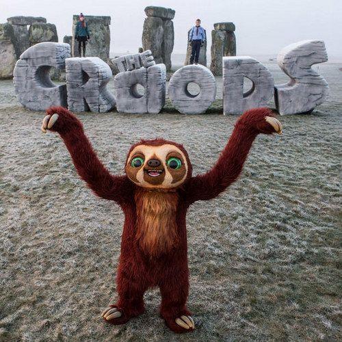The Croods Erect a Massive Monument at Stonehenge