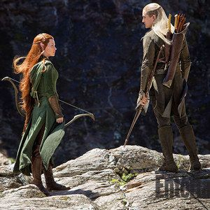 Legolas and Tauriel Go Hunting in New The Hobbit: The Desolation of Smaug Photo