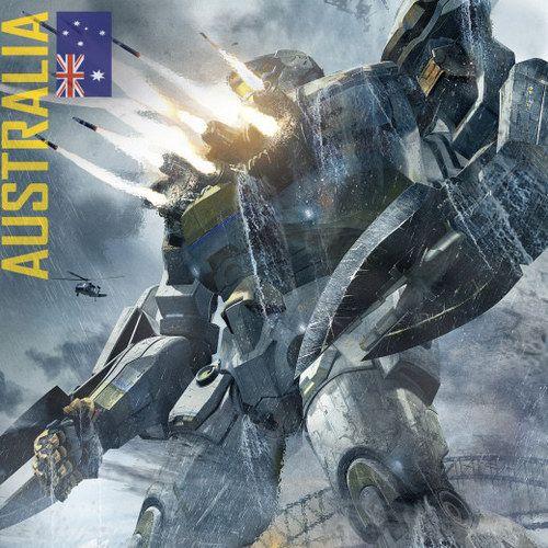 Pacific Rim Poster with Australian Jaeger Striker Eureka