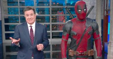 Thanos Kills Off Deadpool on The Late Show with Stephen Colbert