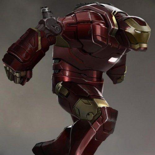 Iron Man 3 Hulkbuster and Deep Space Armor Concept Art