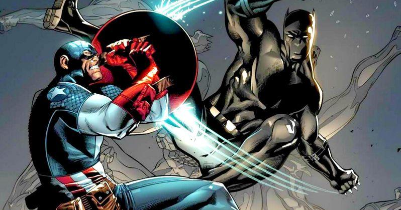 Black Panther Battles Captain America in Civil War Promo Art