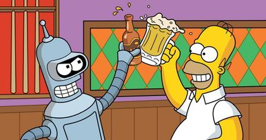 The Simpsons Meet Futurama Crossover Episode Clips First Look!