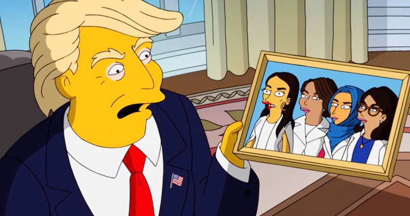New The Simpsons Short: Trump Vs. the Squad in West Wing Story
