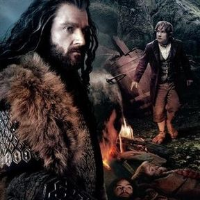 The Hobbit: An Unexpected Journey Thorin Oakenshield and Bilbo Baggins Banner