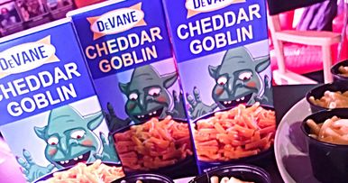 First Mandy Merch Includes Awesome T-Shirts & Cheddar Goblin Mac & Cheese