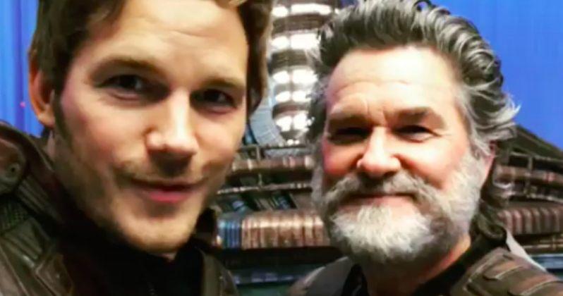 Watch Chris Pratt Geek Out Over Kurt Russell on Guardians 2 Set