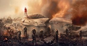 Snow Falls in Hunger Games: Mockingjay Part 2 Poster