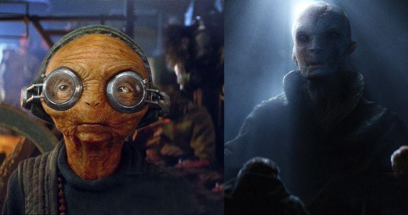 First Photos of Maz Kanata & Snoke in Star Wars: The Force Awakens