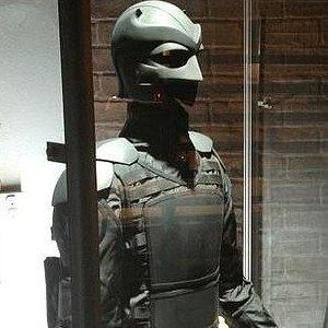 Kick-Ass 2: Balls to the Wall Set Photo with Big Daddy's Suit