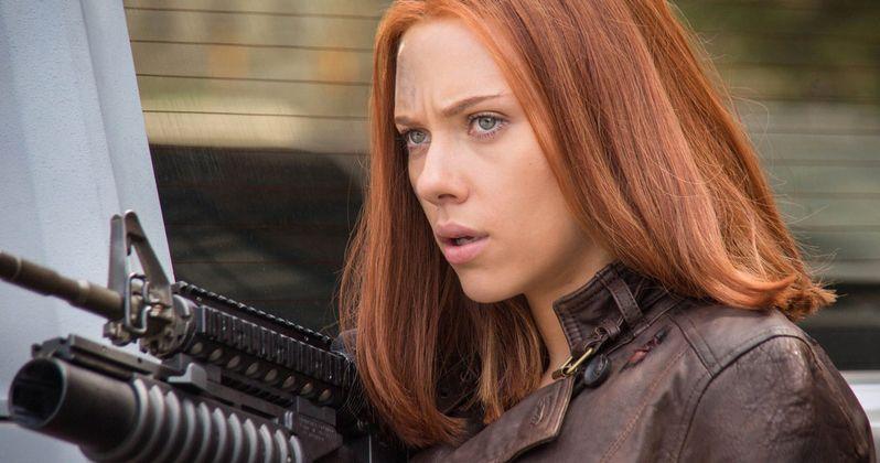 Captain America 3 Photos: Black Widow Rides Into Action!
