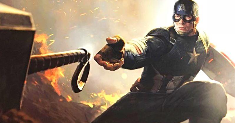 Captain America Contemplates the Power of Mjolnir in Stunning Endgame Concept Art