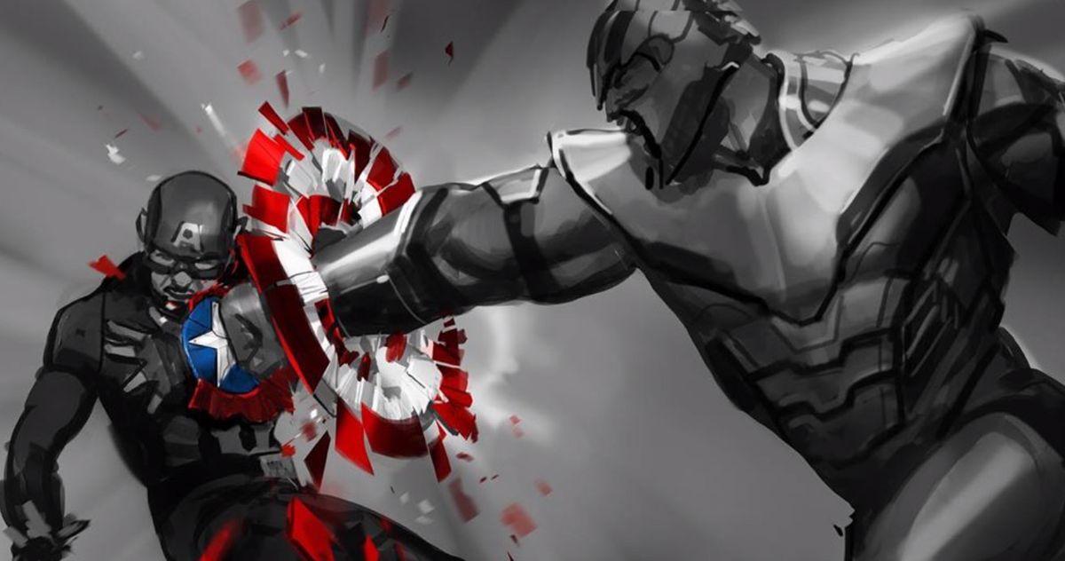 Thanos Obliterates Cap's Shield in Stunning Avengers: Endgame Concept Art
