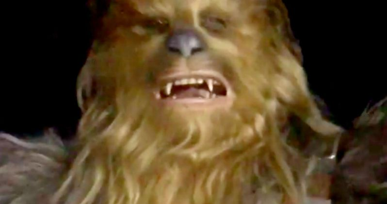 Chewbacca Attacks Emilia Clarke in Weird Han Solo Set Video