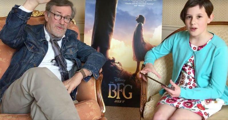 Watch BFG Star Ruby Barnhill Stump Spielberg on His Own Movies