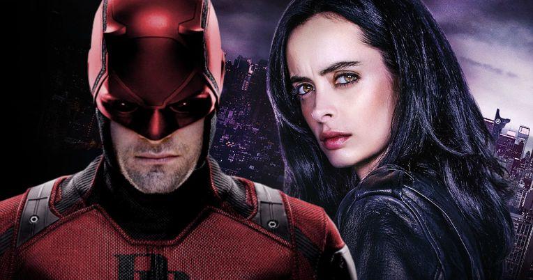 Daredevil and Jessica Jones Unite in New Defenders Set Photos