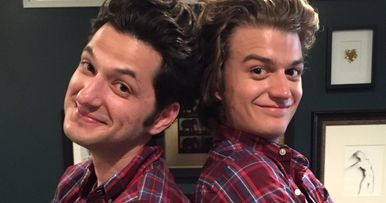 Watch Stranger Things Steve Meet His Parks and Rec Son Jean-Ralphio