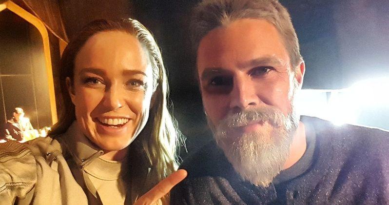 Stephen Amell Reveals Old Man Oliver's Green Arrow Beard