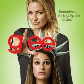 Glee Season 4 Promo Art with Lea Michele and Kate Hudson