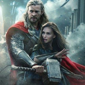 Thor Protects Jane in New Thor: The Dark World International Poster