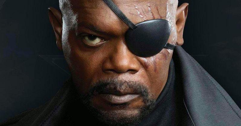 Samuel L. Jackson Shows Off His Captain Marvel Face Cast