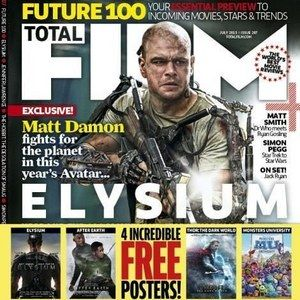 Elysium Total Film Magazine Cover with Matt Damon