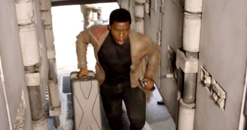 Star Wars: Watch John Boyega Board the Millennium Falcon for the First Time