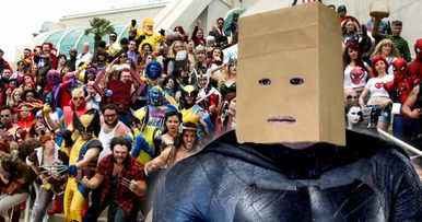 Ben Affleck's Trashy Comic-Con Disguise Revealed