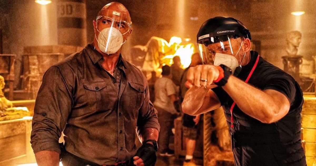 The Rock Shares New Look at Red Notice as Production ...