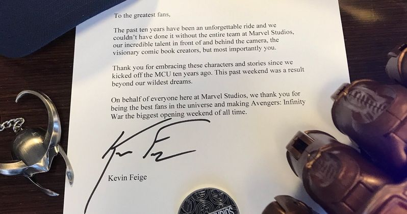 Marvel Boss Sends Thanos-Sized Thank You to Infinity War Fans