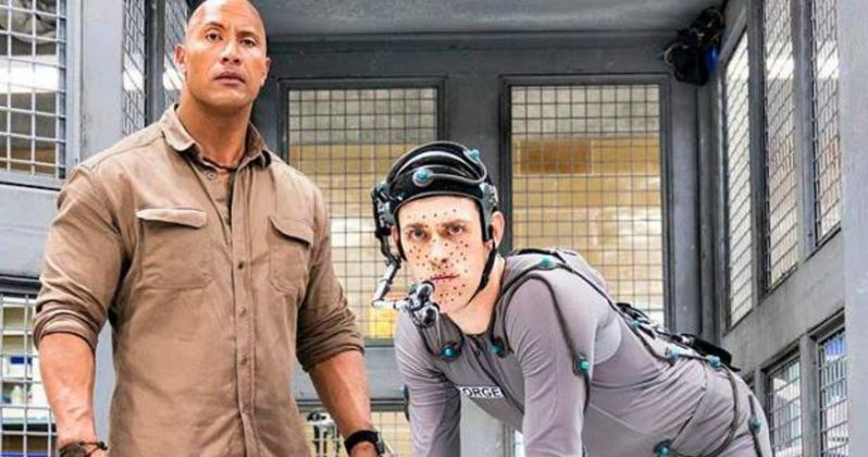 The Rock Introduces George the Ape in New Rampage Set Photo