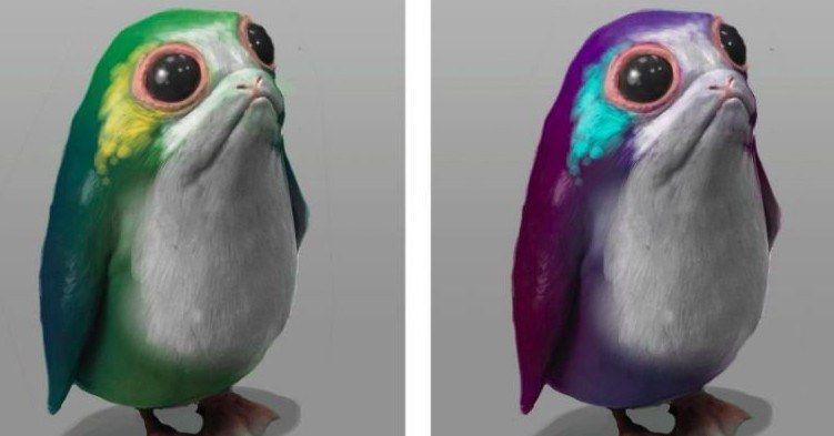 Last Jedi Concept Art Shows Off Multicolored Porgs