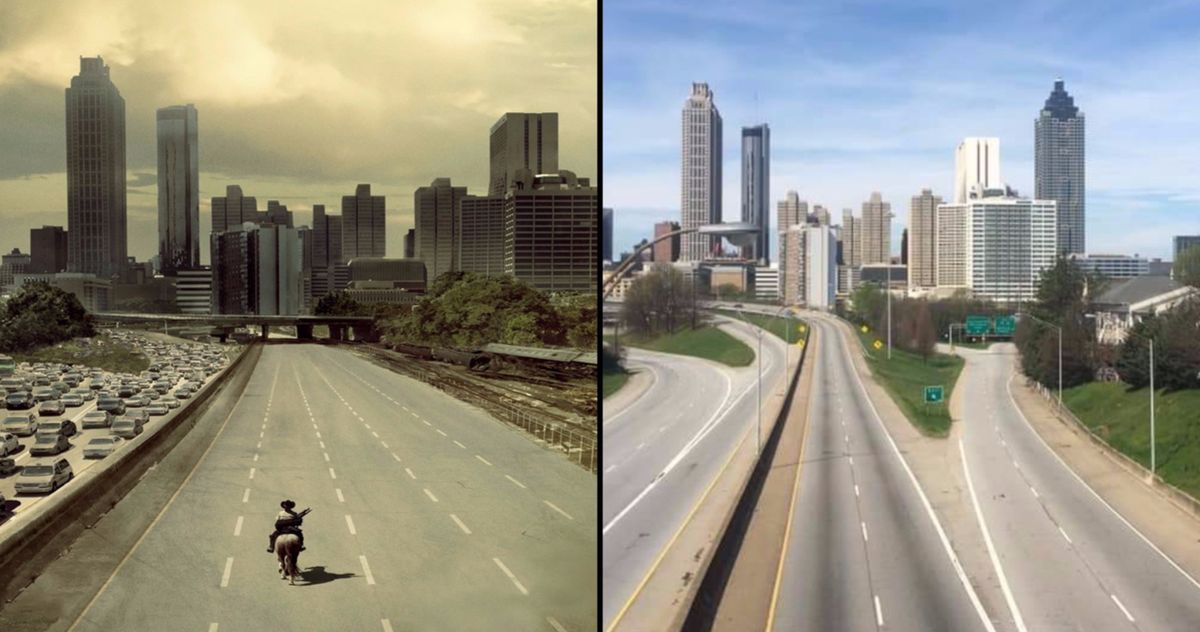 Original The Walking Dead Season 1 Poster Gets Recreated on Empty Atlanta Highway