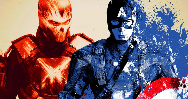 Captain America Fights Crossbones in Civil War Photos