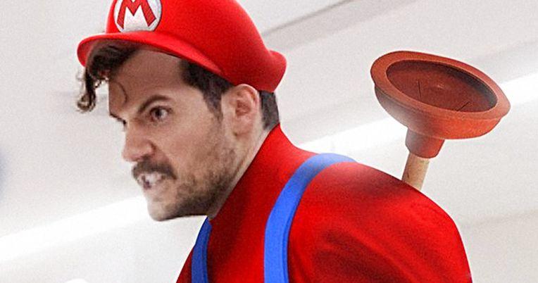 BossLogic Turns Henry Cavill Into Mario for Super Smash Bros. Movie
