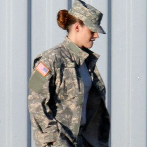 First Look at Kristen Stewart in Camp X-Ray Set Photos