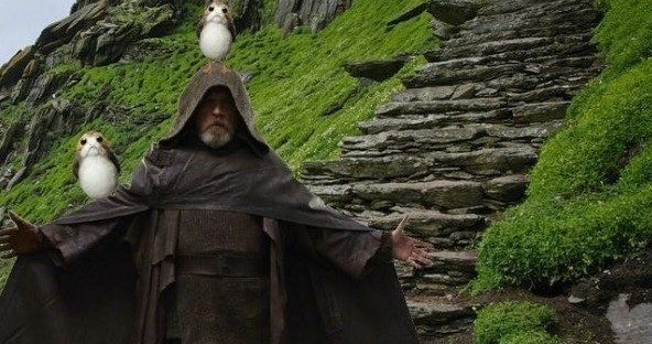 Mark Hamill Takes Porgs to the Dark Side