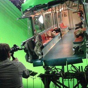 Godzilla Set Photo Reveals a Destroyed Subway Car