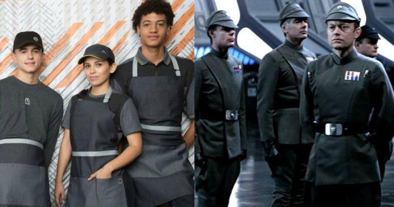 New McDonald's Uniforms Make Staff Look Like Star Wars Villains