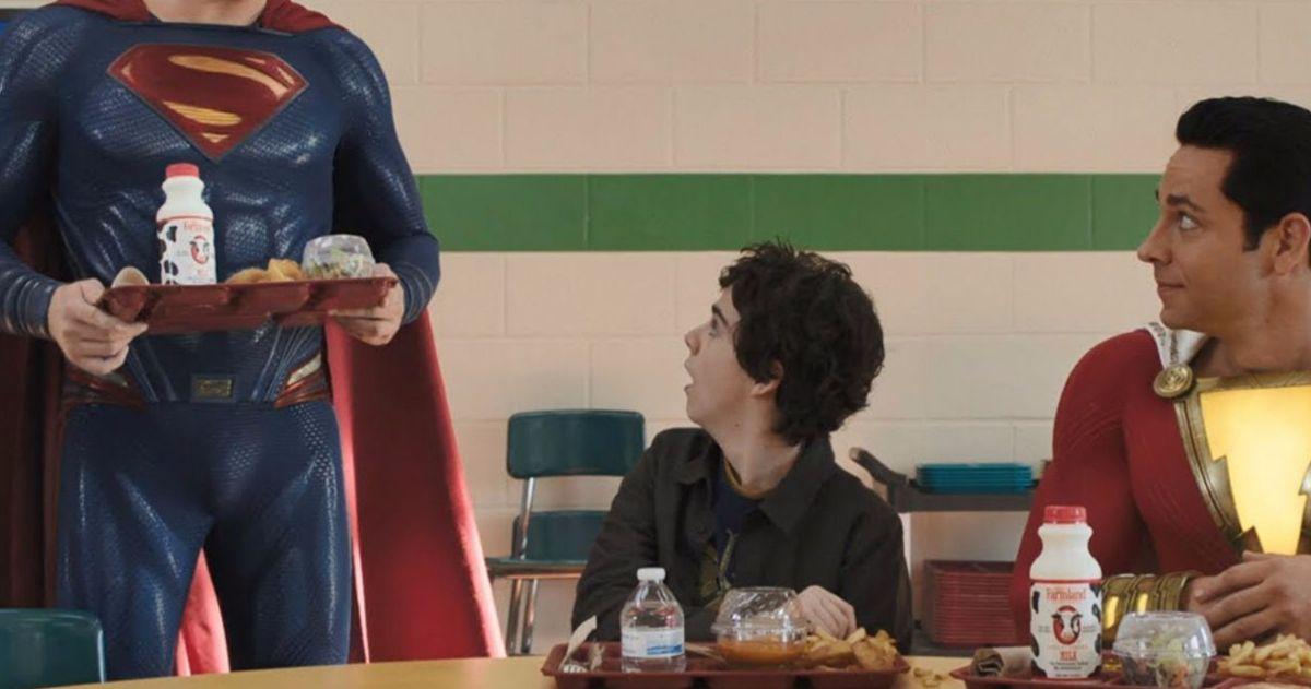 Shazam Director Jokingly Adds Henry Cavill to Superman Cameo Scene